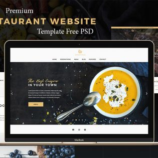 Premium Restaurant Website Template Free PSD