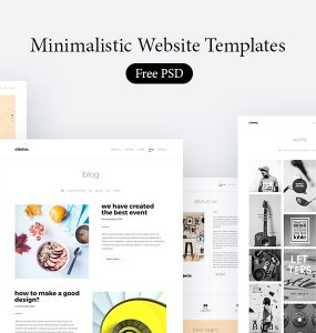 Minimalistic Website Templates Free PSD