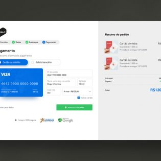 Shopping Cart Payment Screen UI PSD