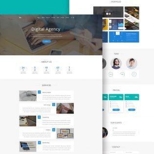Digital Agency Website Landing Page PSD