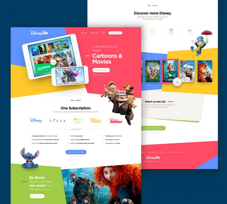 kids cartoon and movies website template psd download psd. Black Bedroom Furniture Sets. Home Design Ideas