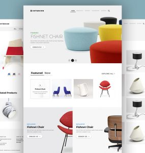 Online Furniture Store Website Template PSD