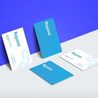 Business Card Branding Design Mockup Free PSD