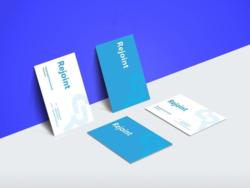 Business Card Branding Design Mockup Free PSD