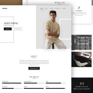 Portfolio and Resume Website Template Free PSD