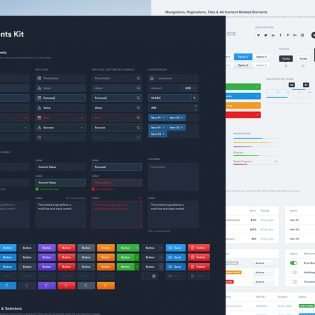 Dashboard UI Elements Free PSD