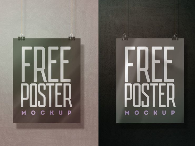 Hanging Wall Poster Mockup Free PSD wall poster Showcase PSD Mockups psd mockup psd freebie presentation poster mockup Poster placard photorealistic mockup template mockup psd Mockup mock-up hanging poster Hanging Free PSD free mockup frame mockup download mockup Download branding