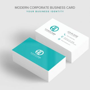 Modern Corporate Business Card PSD Template