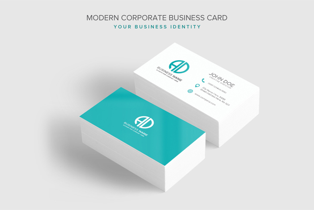 Modern corporate business card psd template download psd modern corporate business card psd template cheaphphosting Image collections