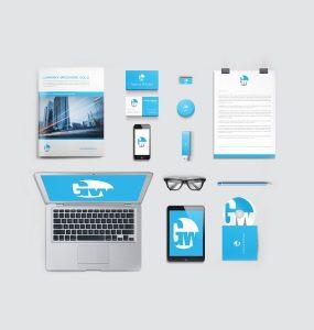 Corporate Brand Identity Mockup Free PSD