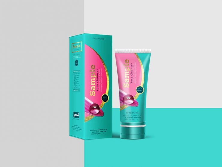 Cosmetic Product Design Packaging Mockup Free PSD