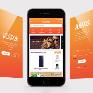 eCommerce Company Mobile App Free PSD