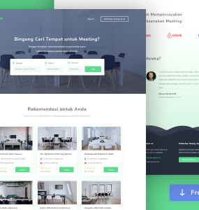 Office Meeting Room Booking Website Template PSD