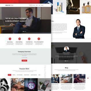 Creative Agency Website Landing Page PSD