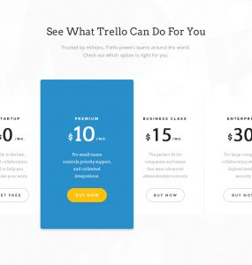 Simple Plans and Pricing Table Free PSD