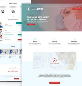 Medical Website Template Free PSD
