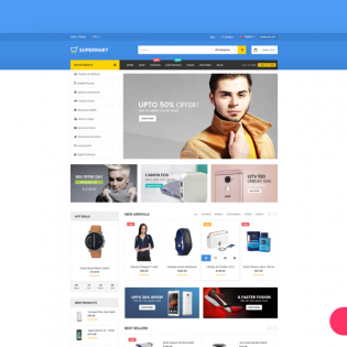 eCommerce Website Template Free PSD