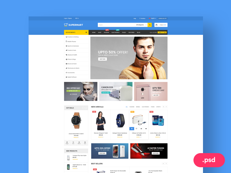 ECommerce Website Template Free PSD Download Download PSD - Buy ecommerce website templates