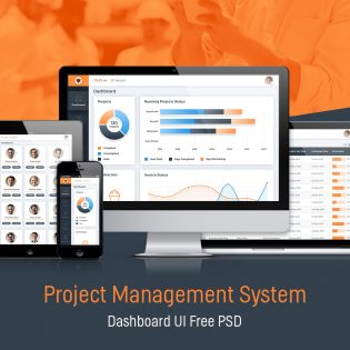 Project Management System Dashboard GUI Free PSD