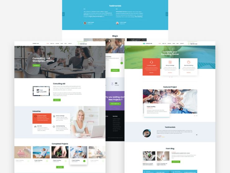 Business Consultancy Website Templates Free PSD