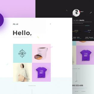 Simple Portfolio Website Template PSD