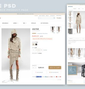 eCommerce Product Page Template Free PSD