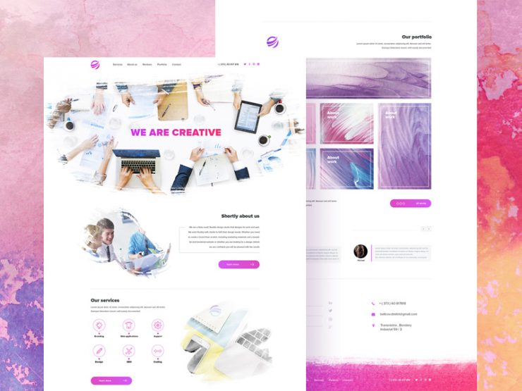 Creative Agency Website Template PSD