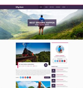 Personal Blog Website Template PSD