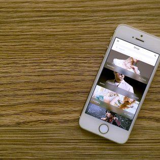 iPhone 5s White Photorealistic Mockup Free PSD