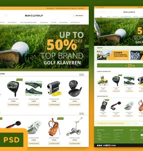Sports eCommerce Store Website Template Free PSD