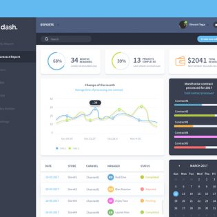 Simple Dashboard UI Design Template Free PSD