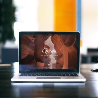 MacBook Pro Front View Mockup Free PSD