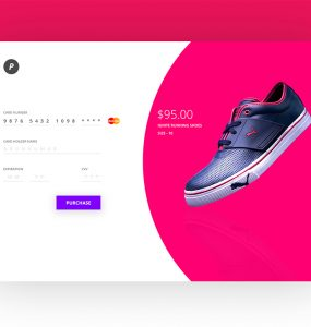 Credit Card Payment Checkout Screen PSD