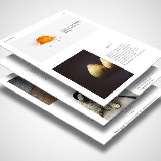 Food Blog Website Template PSD