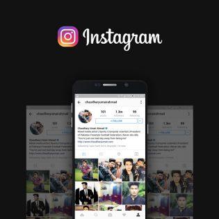 Instagram User Profile Mockup Free PSD