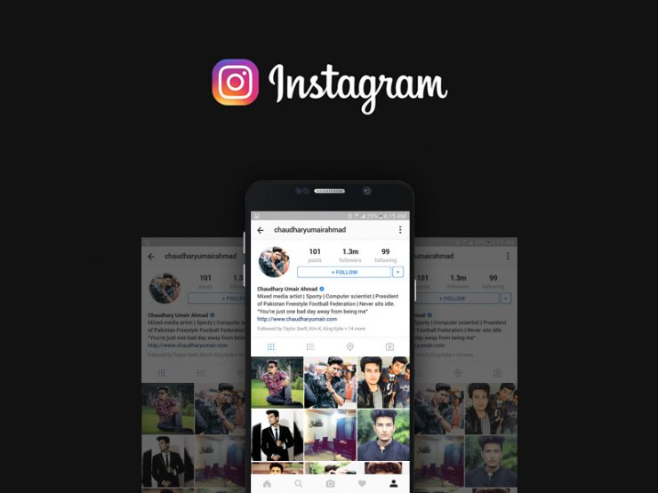Instagram User Profile Mockup Free PSD