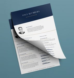 Resume & Cover Letter Free PSD Templates