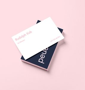 Business Card Template Design Mockup Free PSD