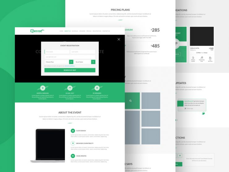 Event Registration Landing Page Template PSD