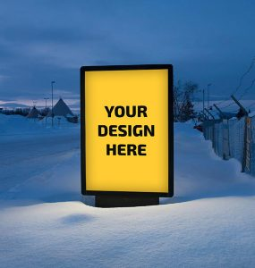 Outdoor Billboard Advertising Mockup Free PSD Winter village Snow Signboard sign board mockup Showcase Russia PSD Mockups psd mockup psd freebie PSD presentation photorealistic outdoor advertisement Outdoor mockup template mockup psd Mockup mock-up Free PSD free mockup Free download mockup Download branding billboard mockup psd billboard mockup advertisement Advert