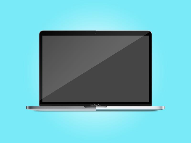 New Macbook Pro 2016 Mockup Free PSD