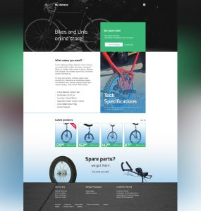 Online Bike Store Website Template Free PSD