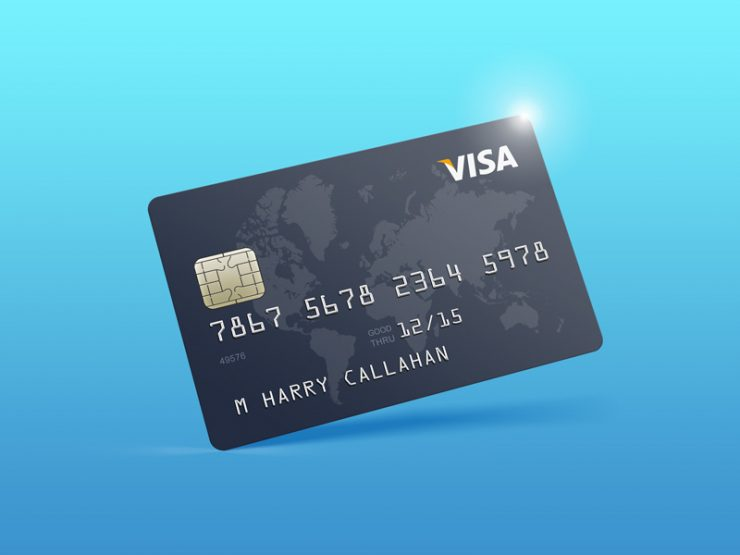 Credit Card Mockup Template Free PSD