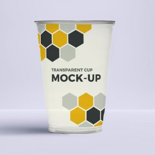 Plastic Drinking Glass Mockup Free PSD
