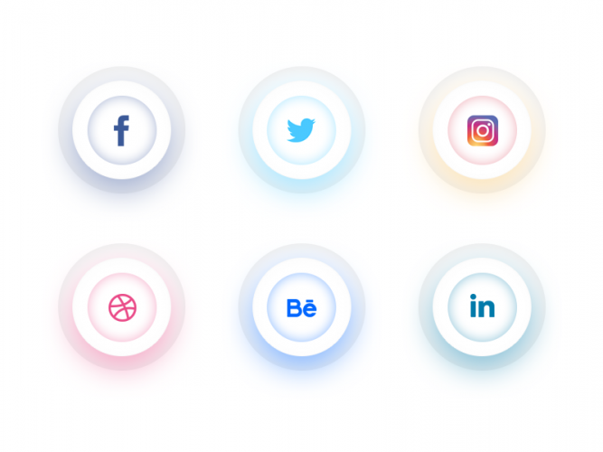 Clean Social Icons Free PSD