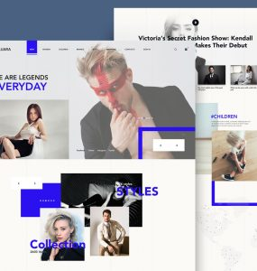 Fashion Store Website Template PSD