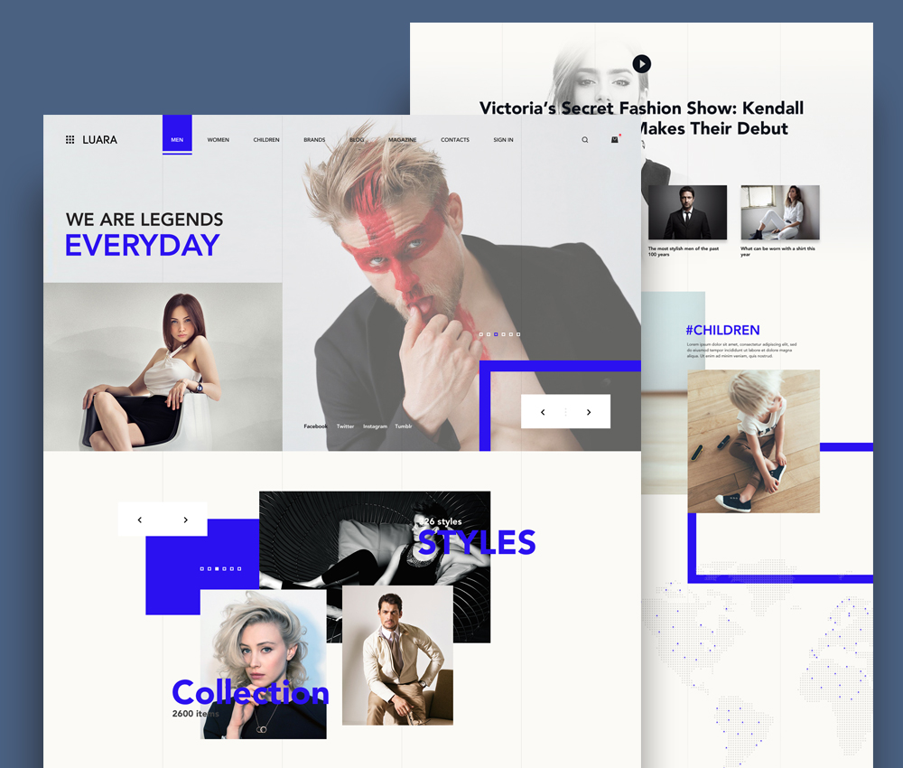 Fashion Store Website Template PSD - Download PSD
