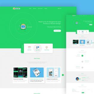 Company Portfolio Landing Page Template Free PSD