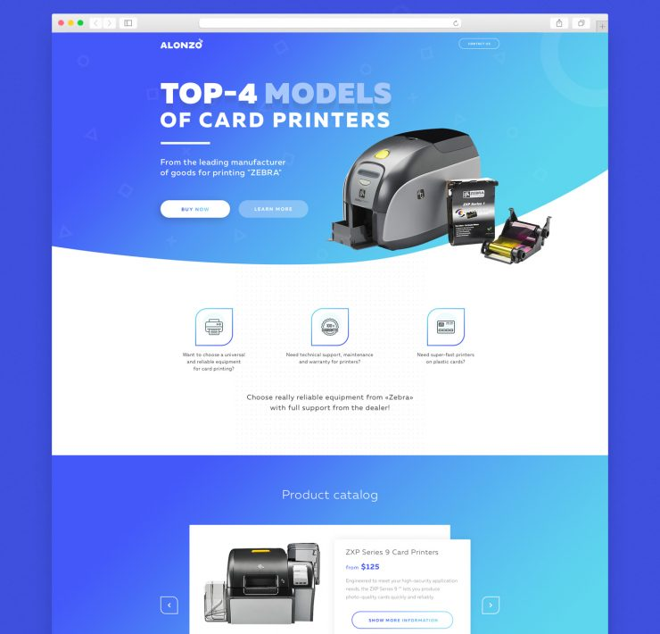 Product Landing Page Template Free PSD
