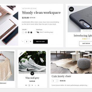 Minimalistic eCommerce UI Kit Free PSD